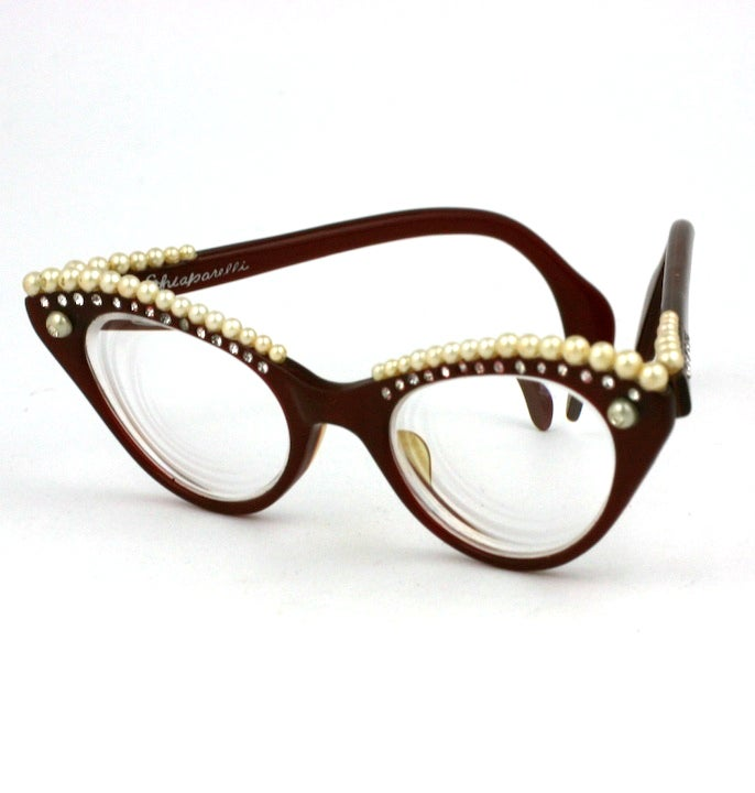 House of Schiaparelli Surreal Pearl Eyebrow Glasses 3