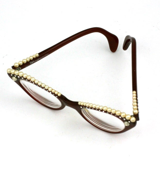 House of Schiaparelli Surreal Pearl Eyebrow Glasses 4