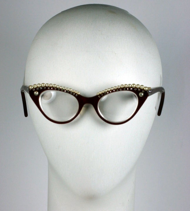House of Schiaparelli Surreal Pearl Eyebrow Glasses image 6