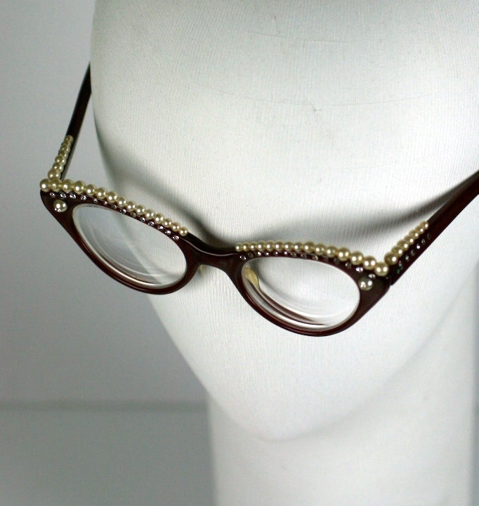 House of Schiaparelli Surreal Pearl Eyebrow Glasses image 7