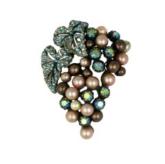 House of Schiaparelli Pagan Grape Cluster Brooch