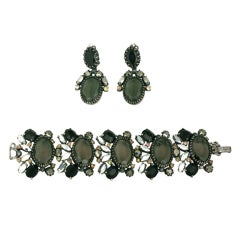 House of Schiaparelli Smoke Crystal 18th Revival Demi Parure