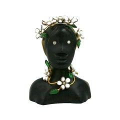 Schiaparelli Haute Couture Pagan Goddess  Lapel Brooch