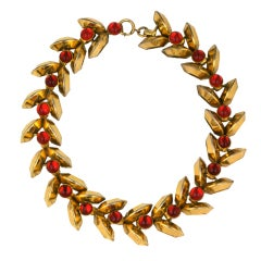 Schiaparelli Haute Couture Retro Tank  Ruby Necklace