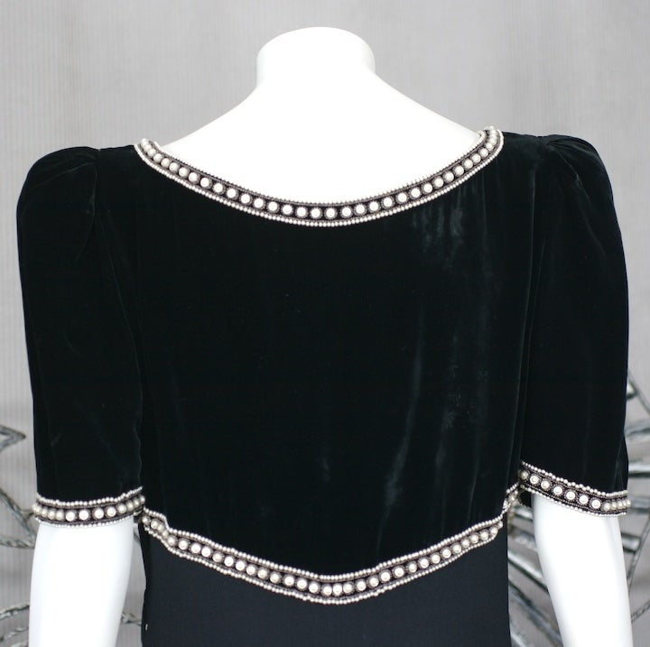Elsa Schiaparelli Haute Couture Faux Bolero Gown For Sale 2