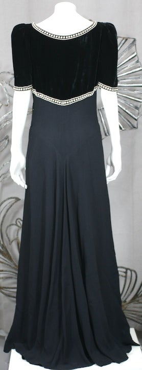 Elsa Schiaparelli Haute Couture Faux Bolero Gown For Sale 3