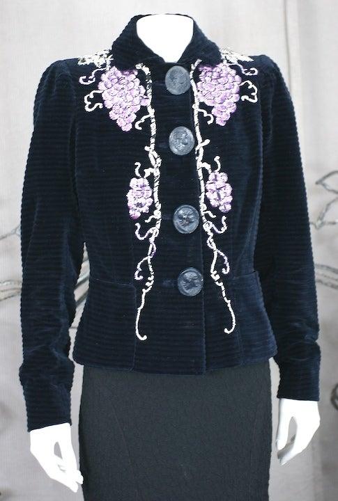 Extraordinary elsa schiaparelli haute couture evening for Haute couture jacket