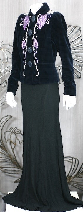 Women's Extraordinary Elsa Schiaparelli Haute Couture Evening Jacket For Sale