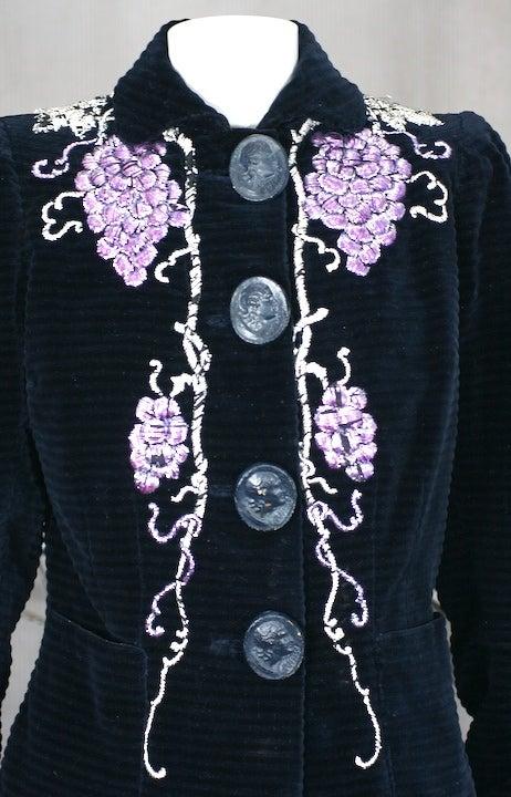 Extraordinary Elsa Schiaparelli Haute Couture Evening Jacket For Sale 4