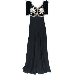 Elsa Schiaparelli Haute Couture Faux Bolero Gown
