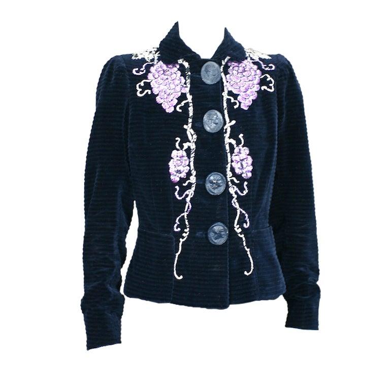 Extraordinary Elsa Schiaparelli Haute Couture Evening Jacket For Sale