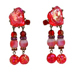 House of Schiaparelli Orange Lava Earrings
