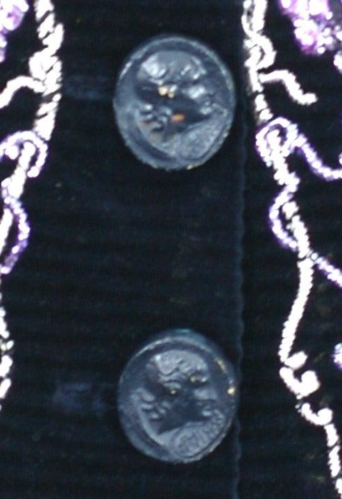 Extraordinary Elsa Schiaparelli Haute Couture Evening Jacket For Sale 6