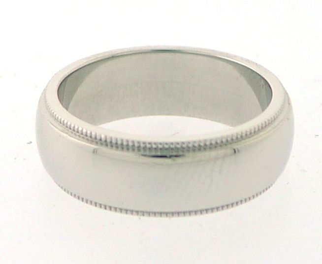 TIFFANY And Co Platinum Milgrain Wedding Band At 1stdibs