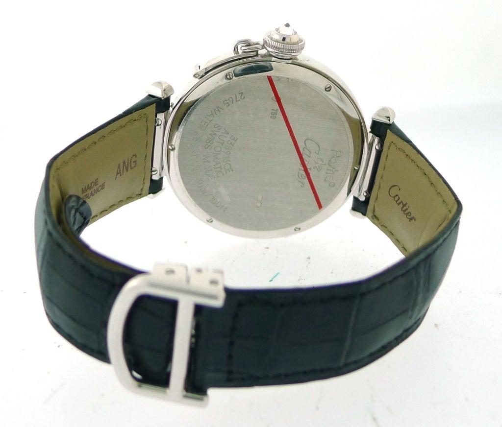 CARTIER 'Pasha' 42 mm White Gold Diamond Bezel Watch at ...