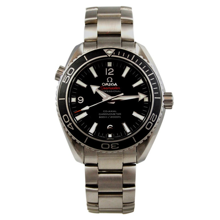 Omega Stainless Steel Seamaster Planet Ocean Wristwatch at ...
