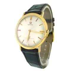 Omega Yellow Gold Dress Wristwatch, 1962