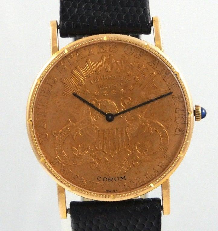 corum yellow gold 20 coin wristwatch at 1stdibs