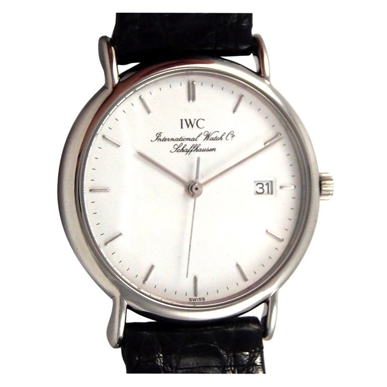 Iwc Stainless Steel Quartz Portofino Wristwatch At 1stdibs