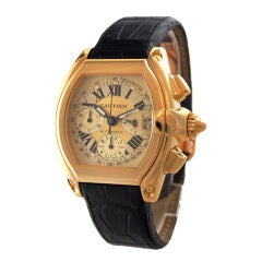 Cartier Yellow Gold Roadster Chronograph Wristwatch