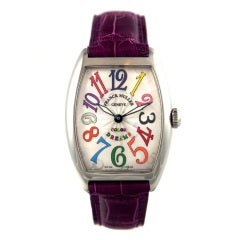 Franck Muller Lady's Stainless Steel Cintree Curvex Color Dreams