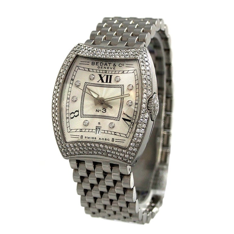 dd40c23227285 Bedat and Co Lady's Stainless Steel and Diamonds No. 3 Wristwatch at ...