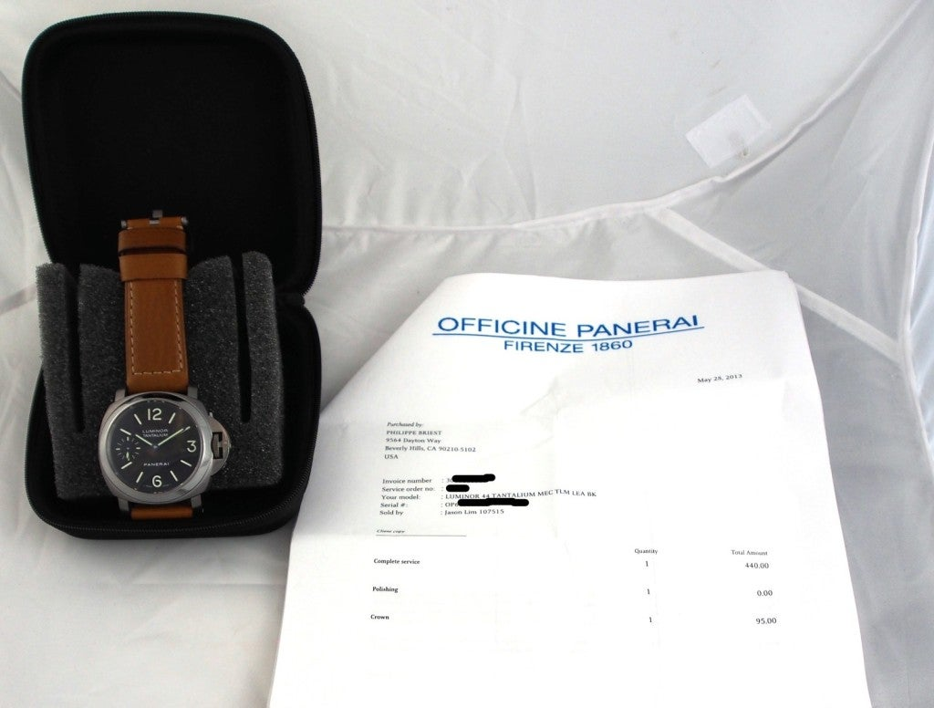 Panerai Tantalum Special Edition PAM 172 Luminor Marina Watch image 10