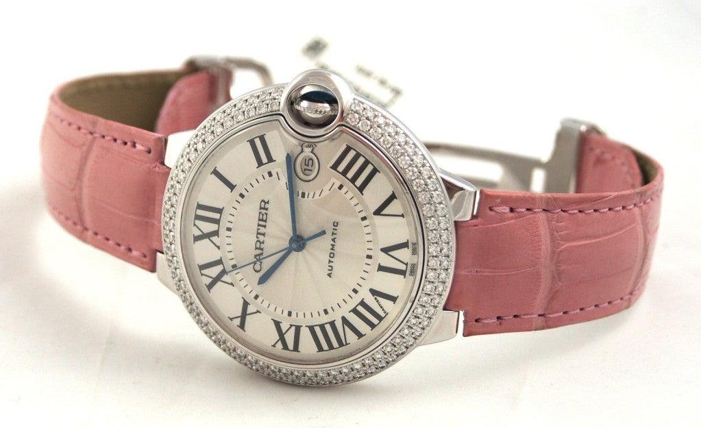 Cartier White Gold and Diamonds Ballon Bleu Wristwatch 2