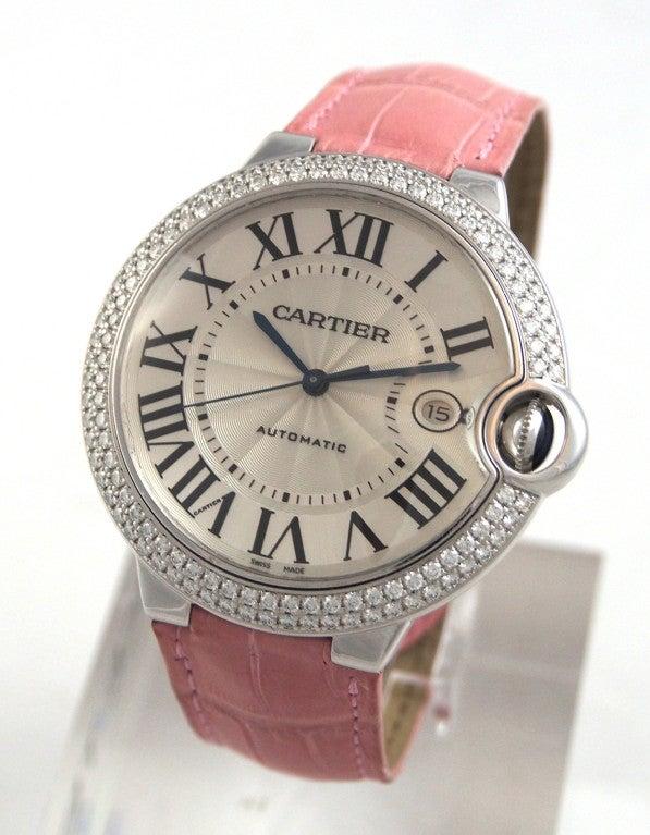Cartier White Gold and Diamonds Ballon Bleu Wristwatch 3