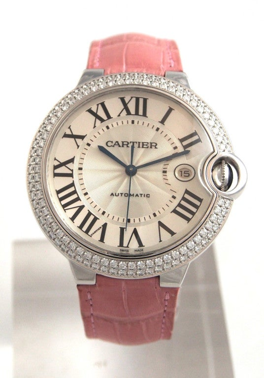 Cartier White Gold and Diamonds Ballon Bleu Wristwatch 5