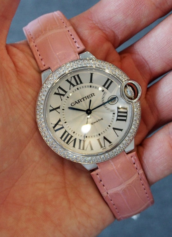 Cartier White Gold and Diamonds Ballon Bleu Wristwatch 7