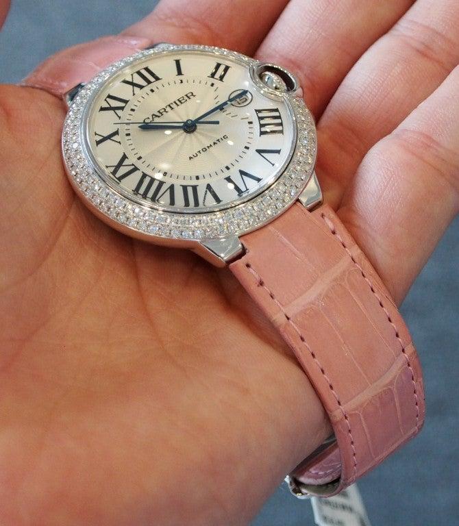 Cartier White Gold and Diamonds Ballon Bleu Wristwatch 8