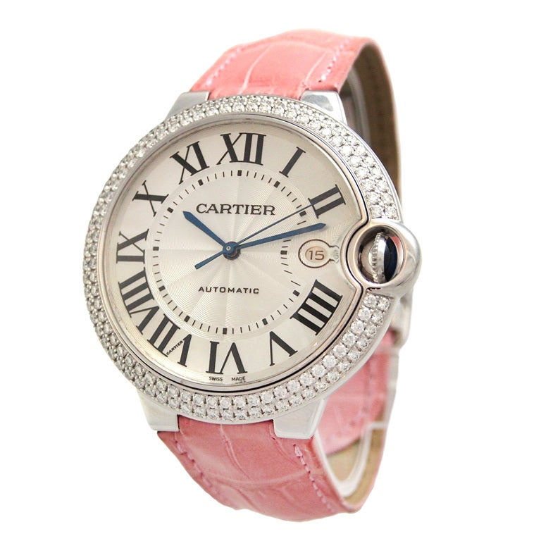 Cartier White Gold and Diamonds Ballon Bleu Wristwatch 1