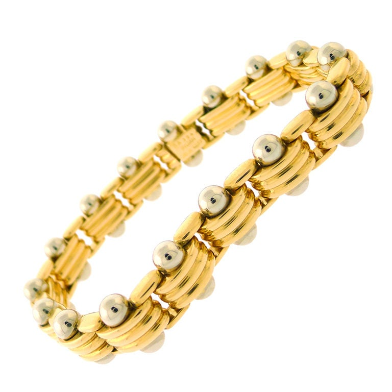 Bulgari Yellow Gold And White Bracelet For