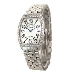 Franck Muller Lady's Stainless Steel and Diamond Cintree Curvex Watch