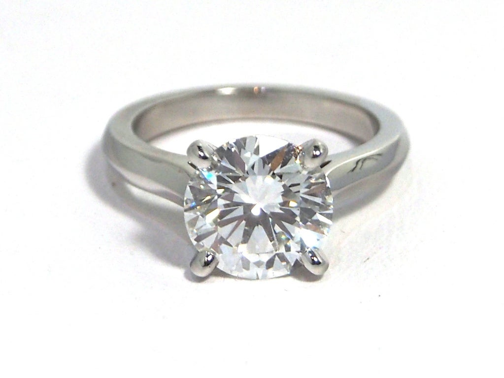 cartier platinum solitaire 1895 ring 2 86ct fvvs1