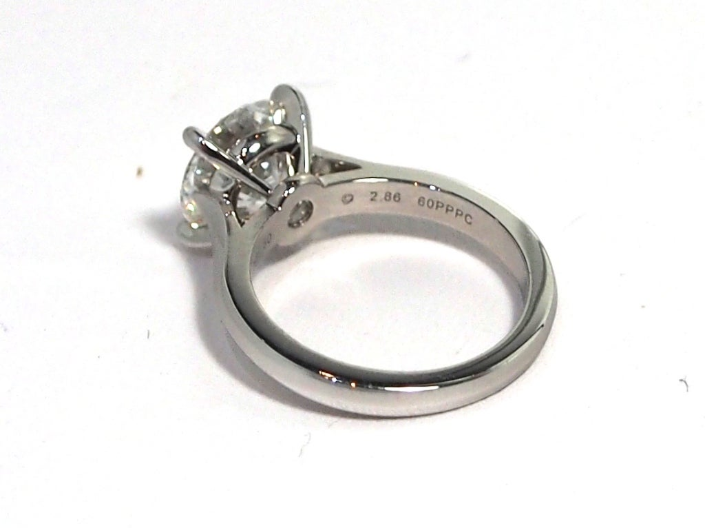 cartier platinum solitaire 1895 ring 2 86ct fvvs1