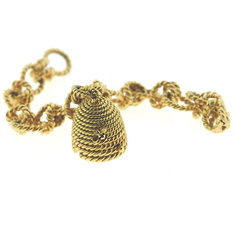 classic verdura beehive charm bracelet at 1stdibs