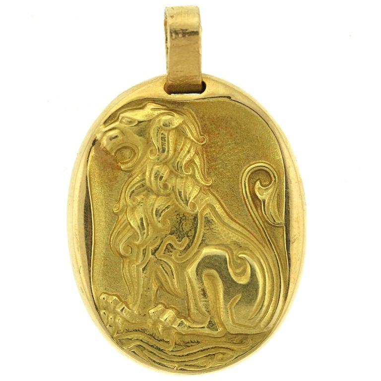 Cartier Paris Leo Zodiac Pendant At 1stdibs