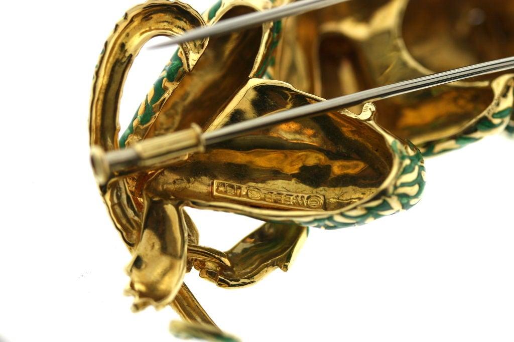 DAVID WEBB Bejeweled Enamel Monkey Brooch Clip image 4