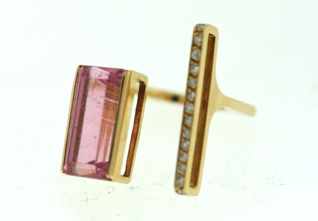 Jean Vendome French Tourmaline and Diamond Ring image 2
