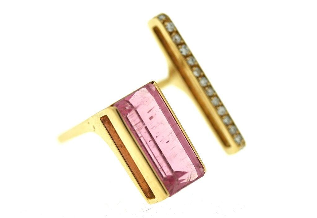 Women's Jean Vendome French Tourmaline and Diamond Ring