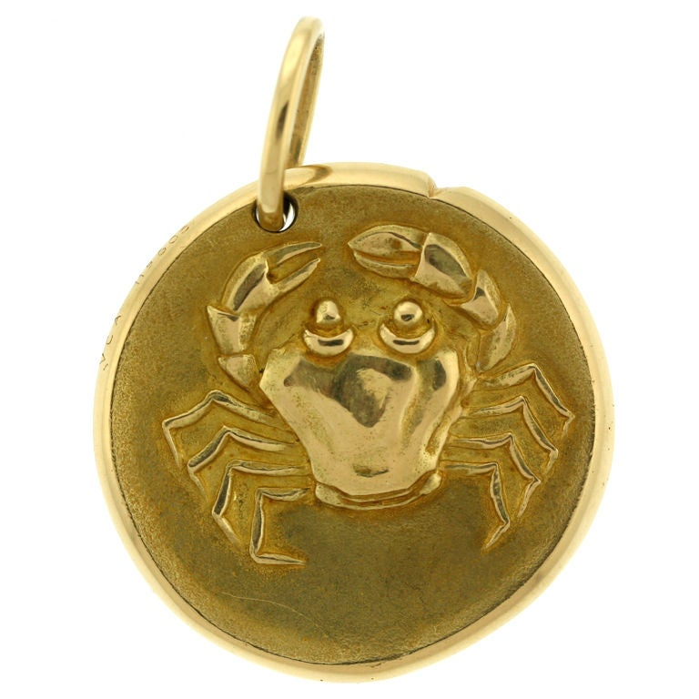 Van Cleef And Arpels Cancer Zodiac Medallion At 1stdibs