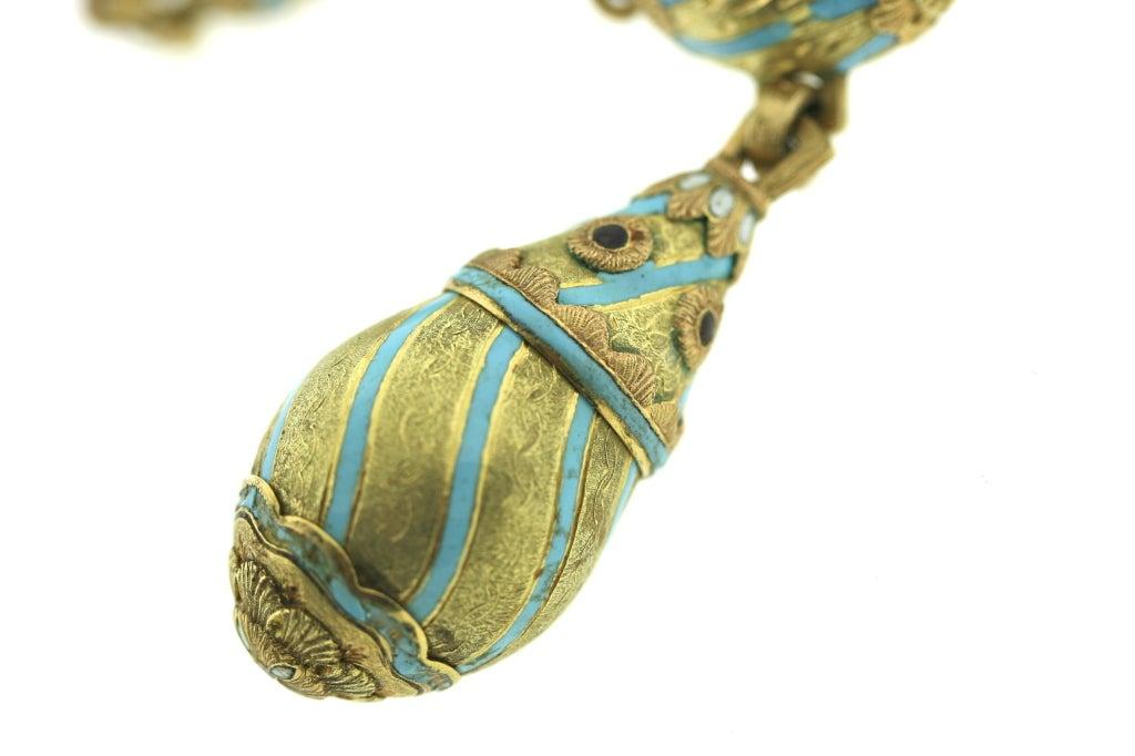 cazzaniga 1960s enamel italian charm bracelet at 1stdibs