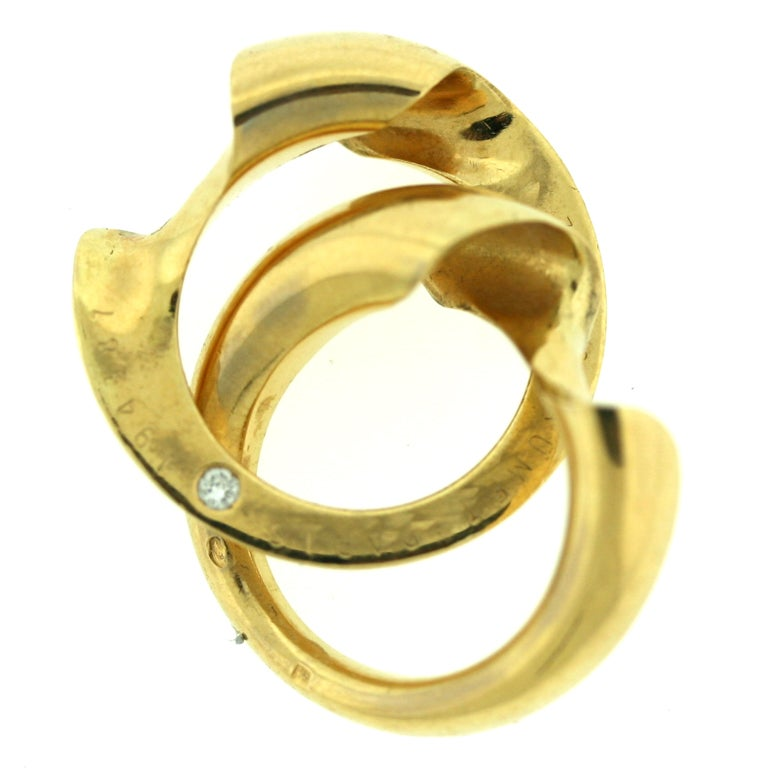 chaumet gold puzzle ring with at 1stdibs