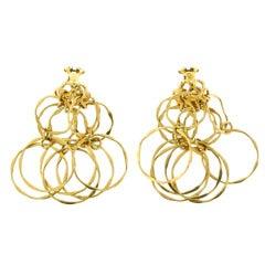 1970s Cartier Gold Multi-Hoop Earrings