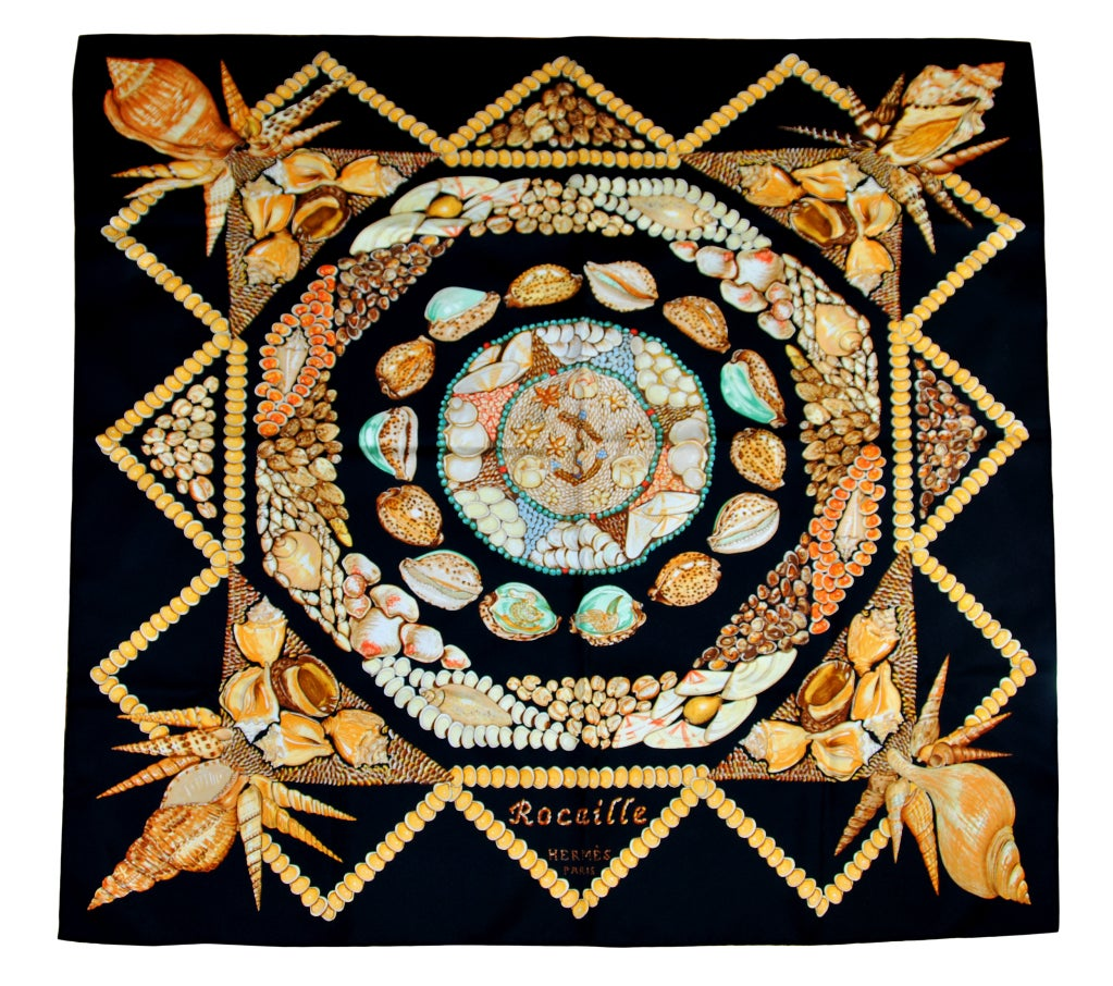"HERMES ""Rocaille"" Sea Shells scarf 1"