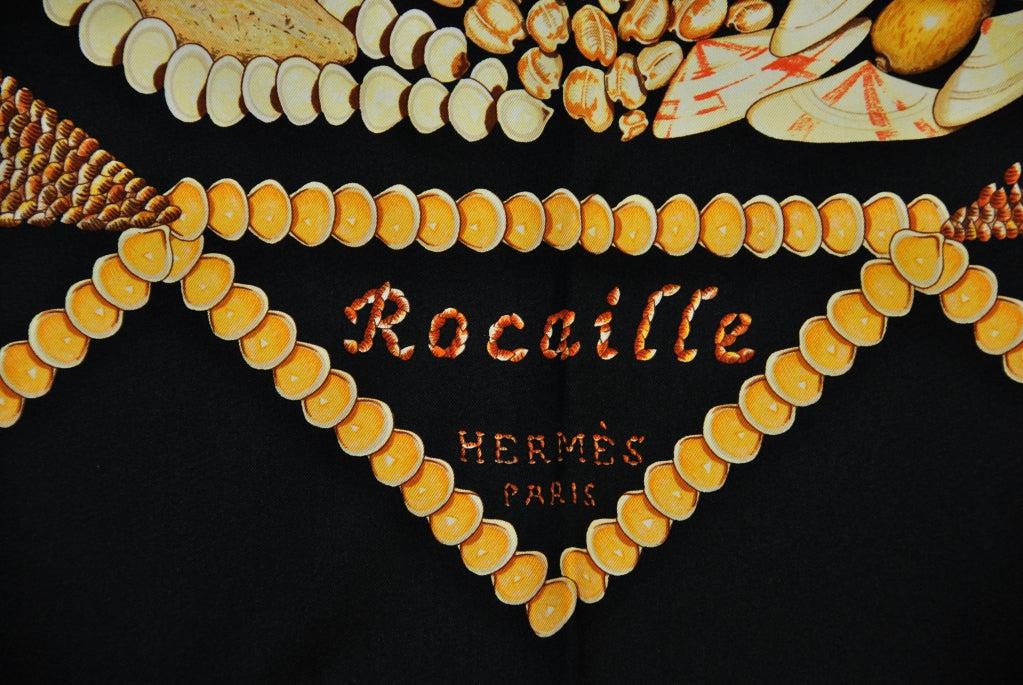 "HERMES ""Rocaille"" Sea Shells scarf 2"