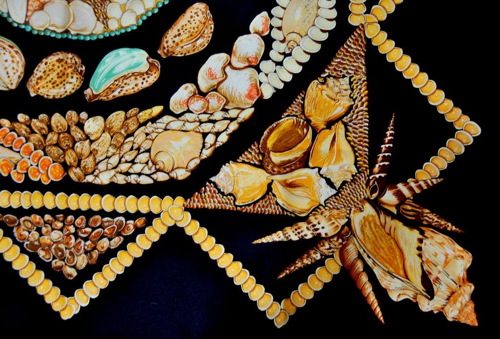 "HERMES ""Rocaille"" Sea Shells scarf 4"