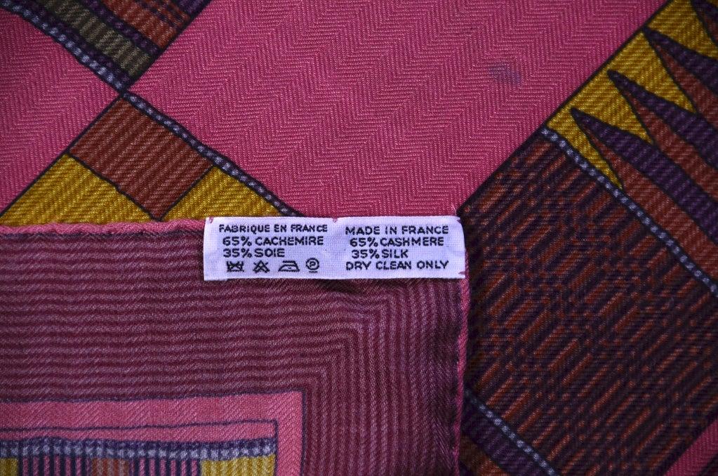 """HERMES Gorgeous 54"""" Shawl image 5"""